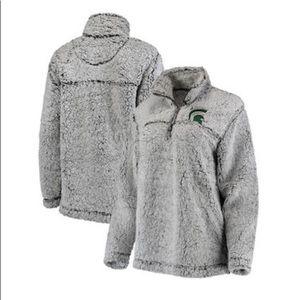 Michigan State Spartans Sherpa quarter zip